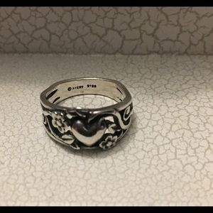 James Avery Sterling Silver heart ring